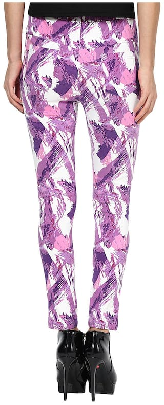 Sang Purple Printed Sakhi Size Jeggings 28 BwpUF