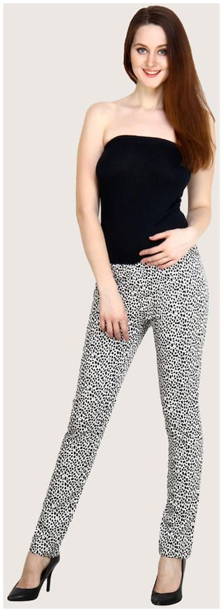 Jegging 28 Printed Size Lycra Women's Cotton Slim Fashion Cult Fit TUnaRZa7q