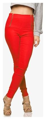 Miss Chase Women Jegging - Red
