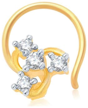 Sukkhi Glimmery Gold and Rhodium Plated CZ Nose Pin for Women