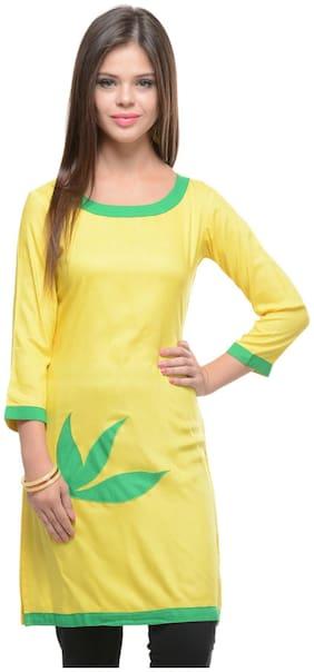 Sritika Woman Yellow Kurta