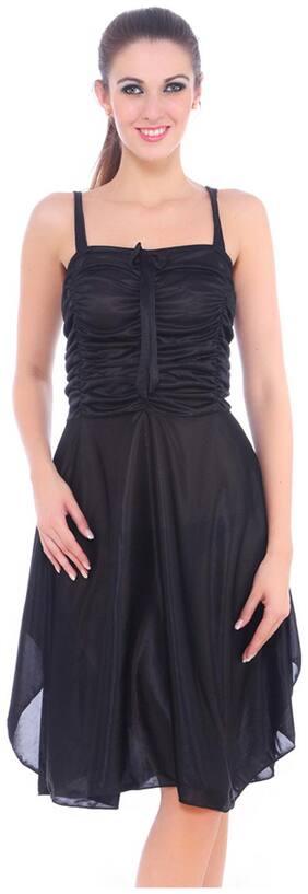 Fasense Women Satin Slip Nightwear Sleepwear Short Nighty (Size-L)