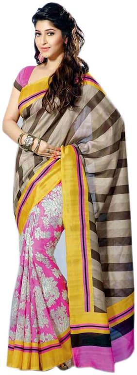 Yuvanika Sarees Multi Bhagalpuri Silk Saree