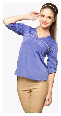 Miss Chase Women Blue Shirt