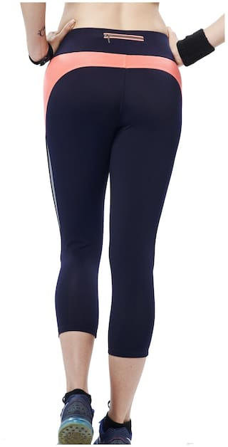 Restless Navy And Peach 26 Capris Size ddfrwBqx1