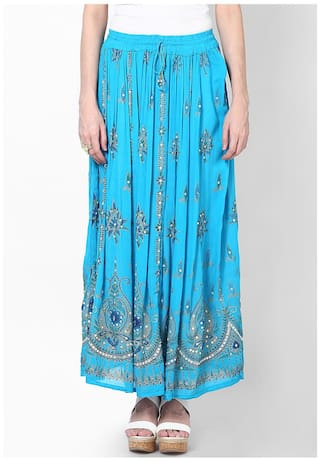 d6c41f36b1 Buy Rajasthani Sarees Jaipuri Embroidered Cotton Long Skirt Online ...