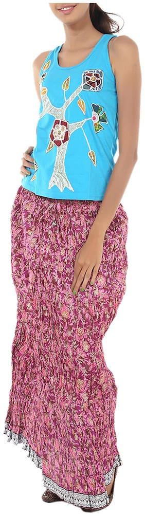 Rajrang Purple Pink Skirts