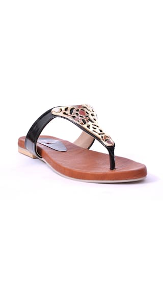 8bd9e0792d2b Buy Foot Step Black Women Sandal Online at Low Prices in India ...