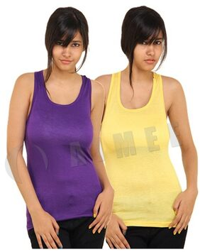 Phalin Pack Of 2 - Premium Racer Back Tank Top (Size-31)