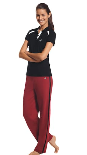 Buy Jockey Shanghai Red Relaxed Pant For Women (Size-28) Online at ...