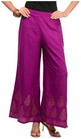 Lavennder Purple Palazzo Pants (Size-S)