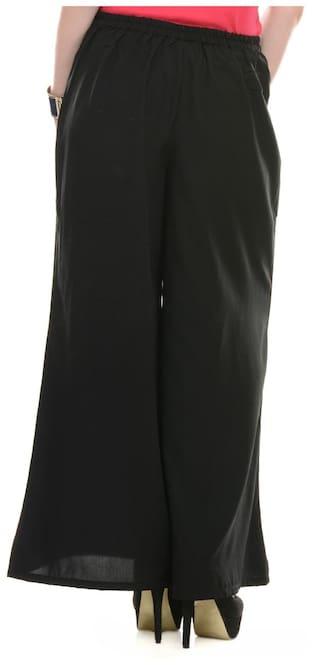 M Size Pants Palazzo Black Lavennder WgqSIOn