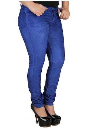 Trousers Cult Slim Fit 26 Women's Fashion Size Corduroy Lycra YSxapw6