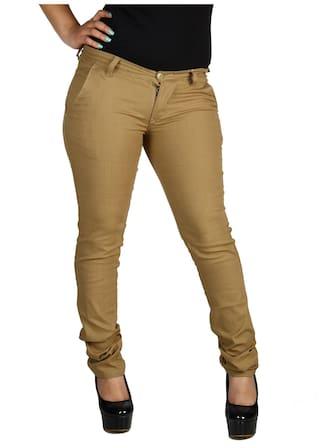Linen Size Cult Lycra Fashion Slim Trouser Women's 26 Fit cyHapHUq