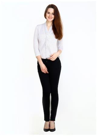 Size 34 Lycra Cotton Fashion Cult Trouser Stylish Black aqwx41SB