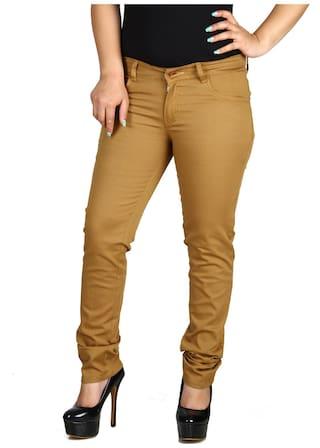 Fashion Cult Khaki Stylish Cotton Lycra Trouser (Size-26)