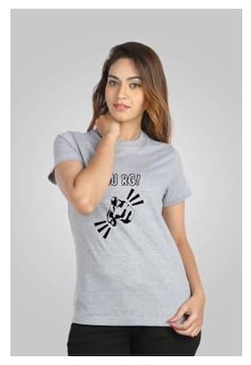 Campus Sutra Grey T Shirt
