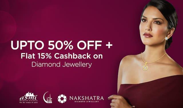 Jewelsouk : Upto 50% off + Flat 15% Cashback