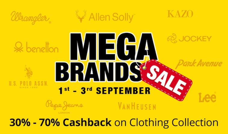 Clothing | 30% - 70% Cashhback
