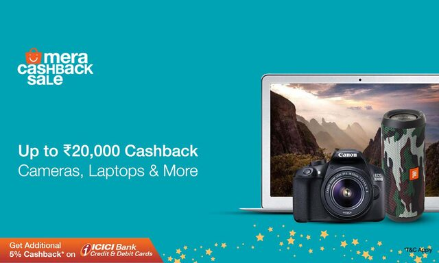Camera, Laptops and More | Upto Rs 20000 Cashback