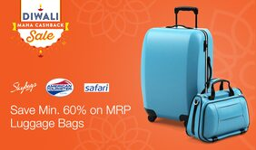 cashback on Luggage & Wallets