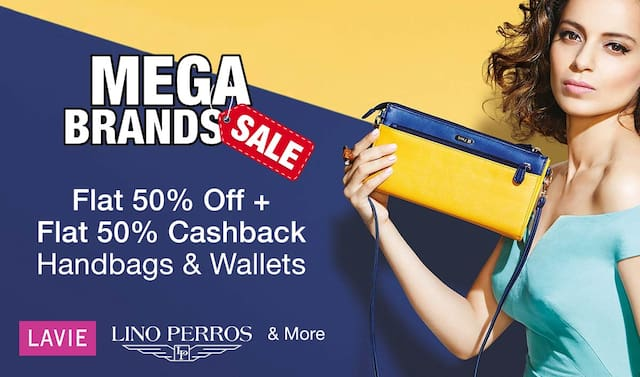 Handbags | Flat 50% off + Flat 50% CB