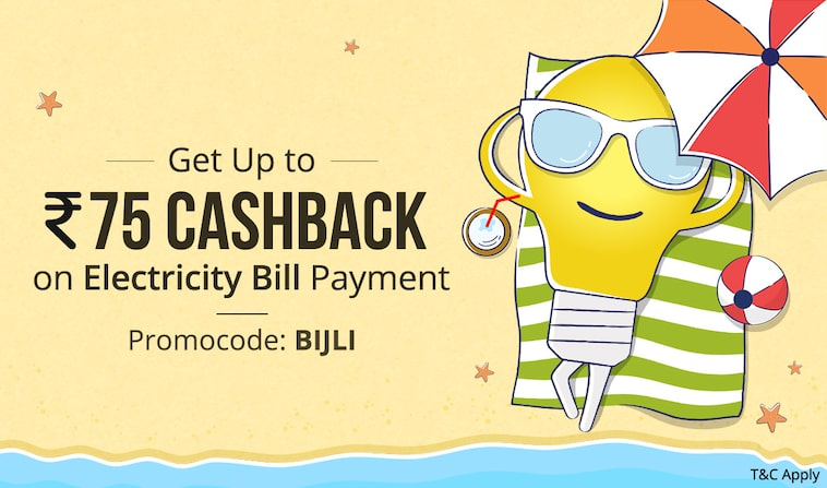 Get upto Rs. 75 Cashback on Electricity bill payment