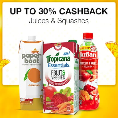 UP TO 30% CASHBACK Juices & Squashes