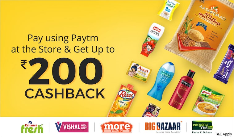 Pay using Paytm | Up to Rs 200 cashback