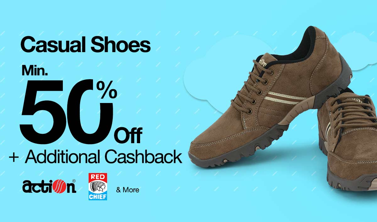 Min.50% OFF+Add.cash back Casual Shoes