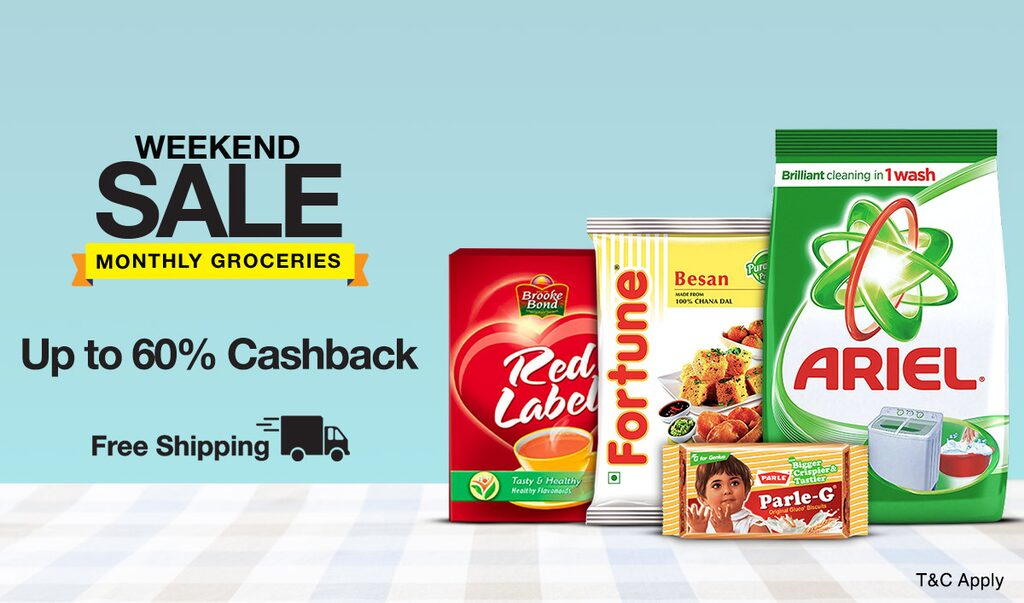 Groceries | Up to 60% Cashback