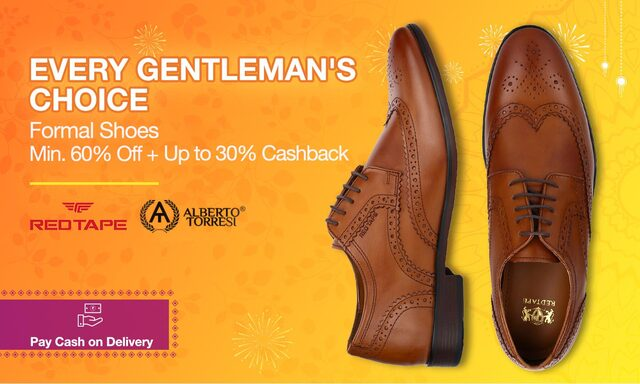 Formal shoes|Min.60% OFF+ upto 30% cash