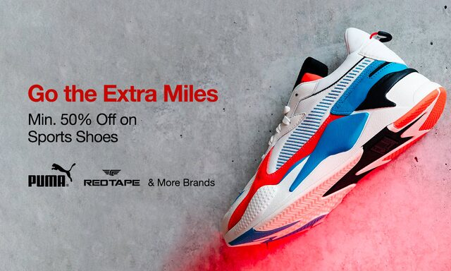 Sports Shoes|Min  50% off