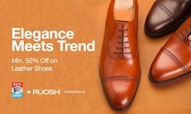 Leather Shoes Min 50% off