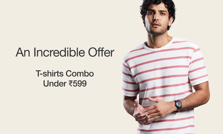 Men T-shirts Combos Under 599