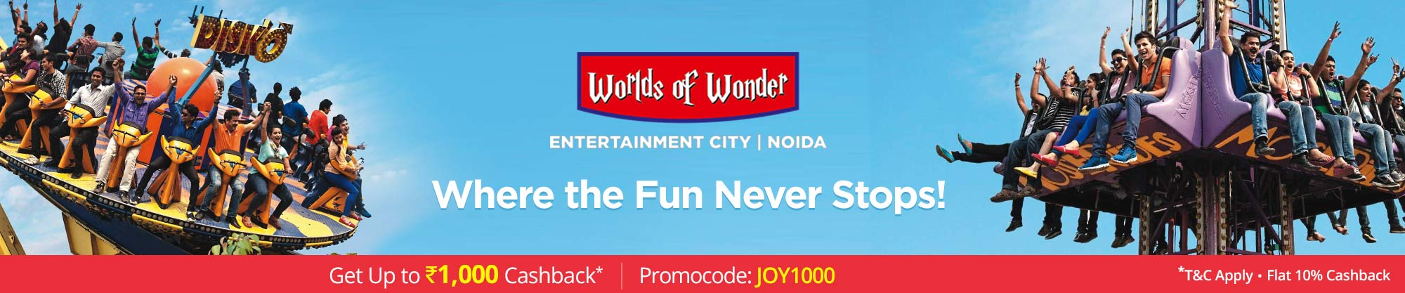 Worlds of Wonder Theme Park | Delhi NCR
