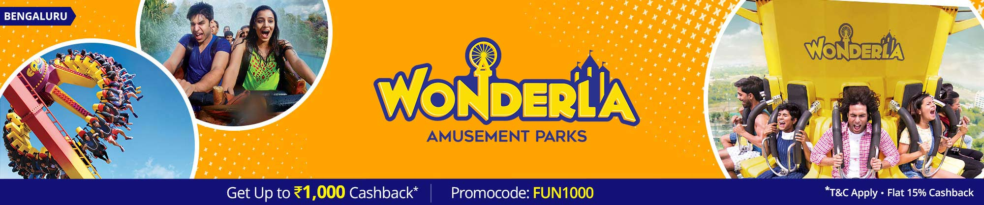 wonderla bangalore - flash sale