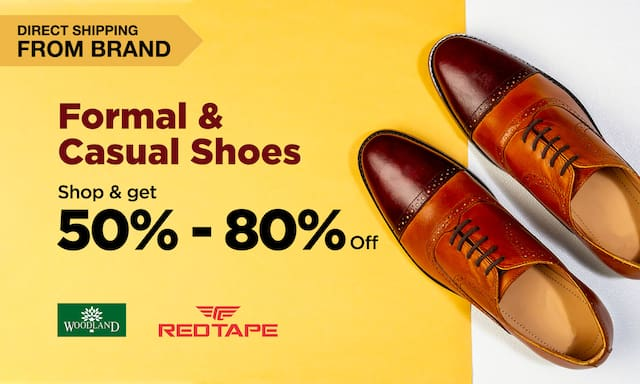 Formal & Casual Shoes | 50 - 80% Off