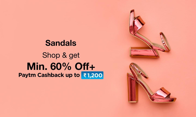 Sandals Min. 60% Off