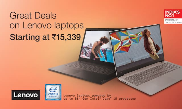 Lenovo laptops starting 15,339