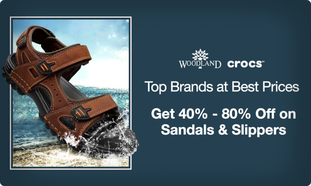 Sandals & Slippers | 40% - 80% Off