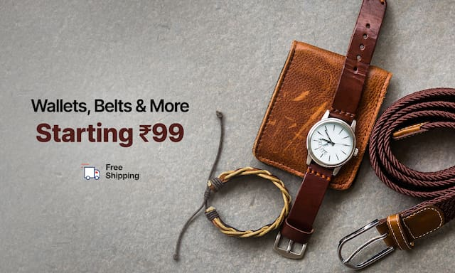 Wallets Belts & More | Starting Rs 99