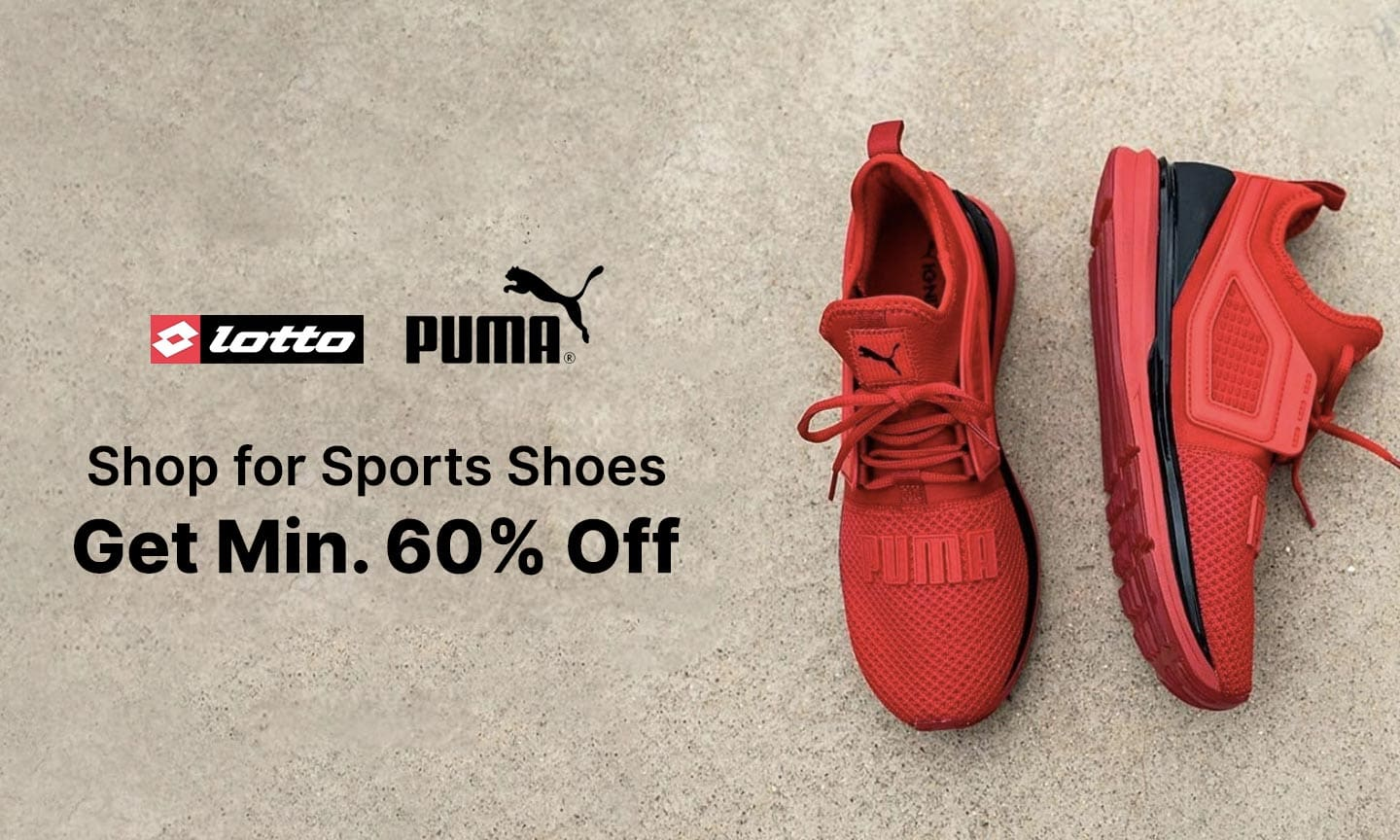 Sports Shoes   Min 60% Off