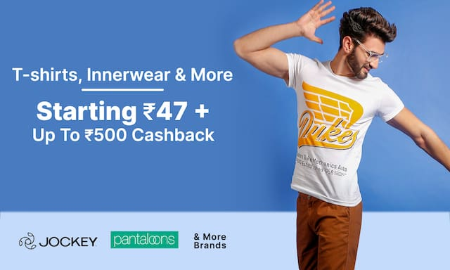 T-shirts, Innerwear & more | Starting Rs 47