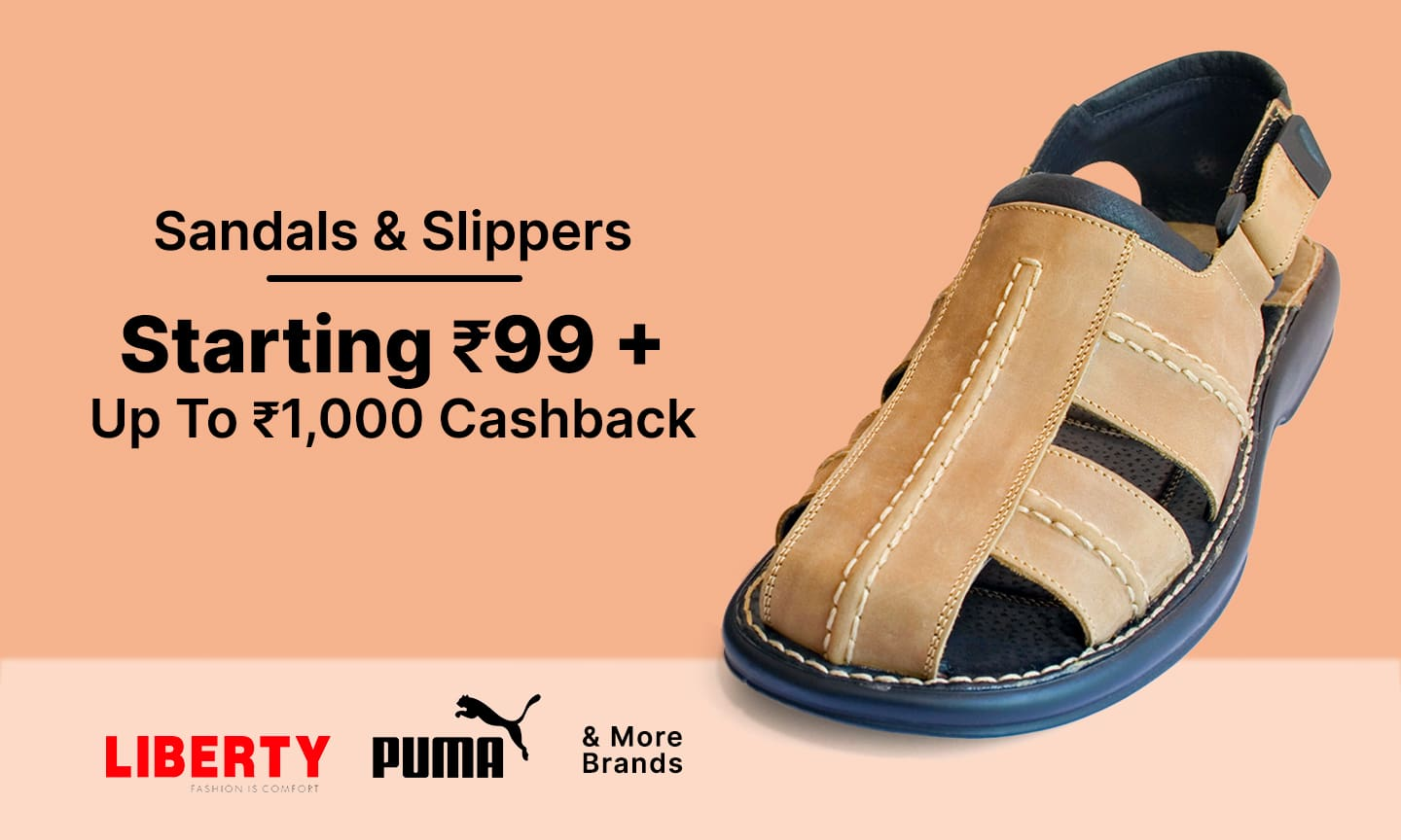 Sandals & Slippers | Starting at 99