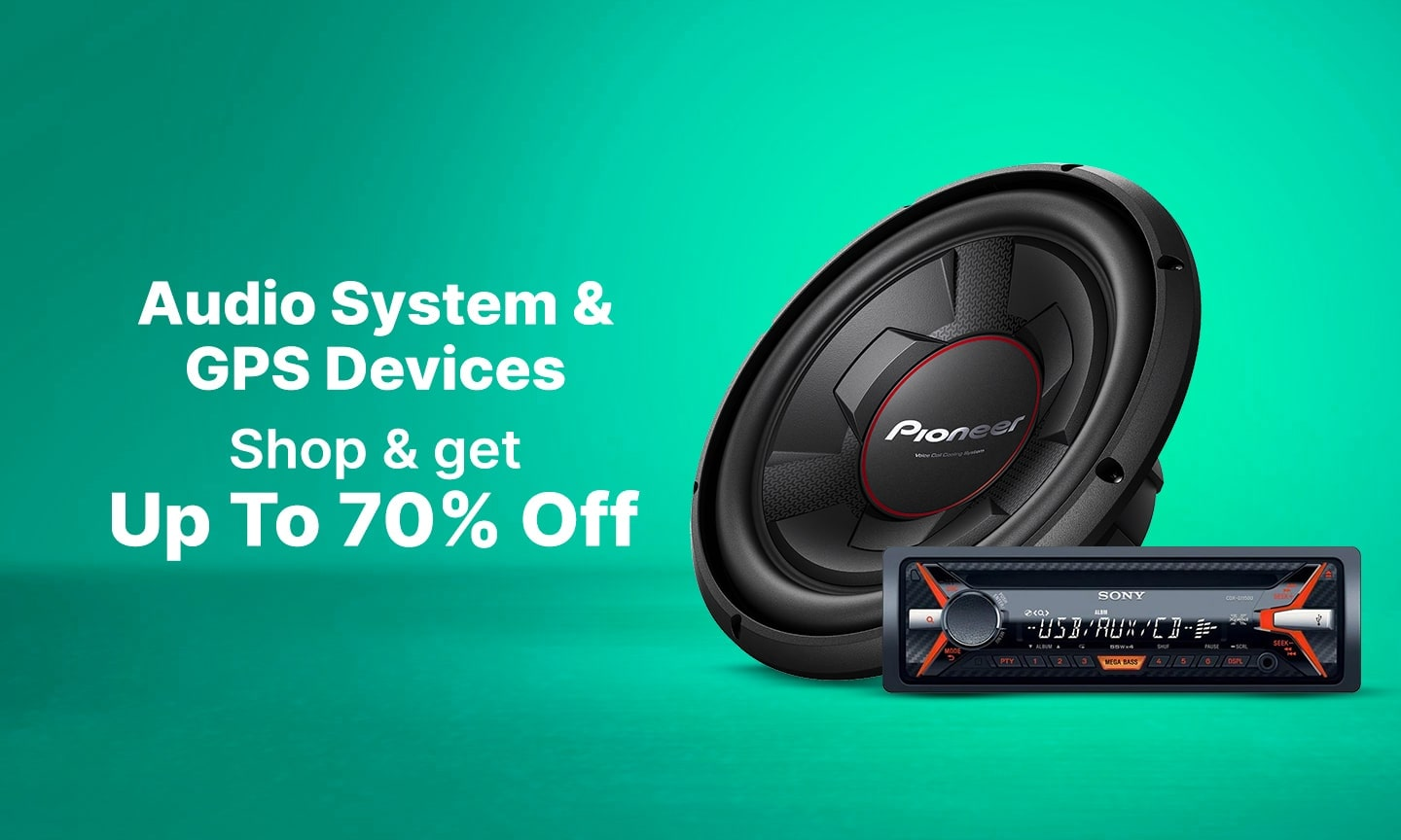 Audio System & GPS Devices  | Upto 70% Off