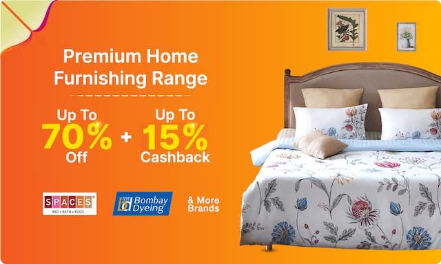 Premium Furnishing Range | Up to 70% off on MRP
