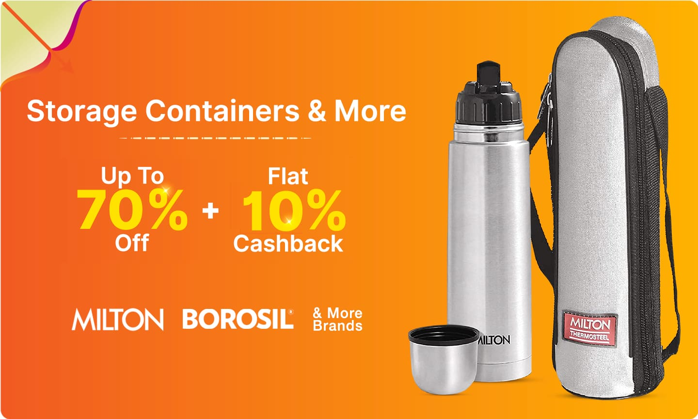 Flasks, Containers & More | Upto 70% Off