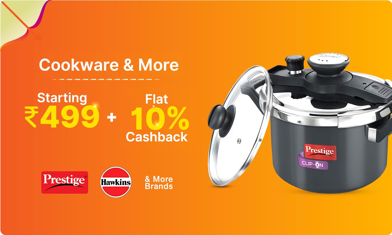 Pressure Cookers | Starts @ 499 + upto 20% Cashback
