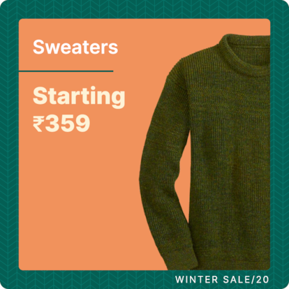 Sweater | Starting Rs 359